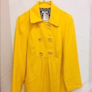 Shoshanna Yellow Pea Coat